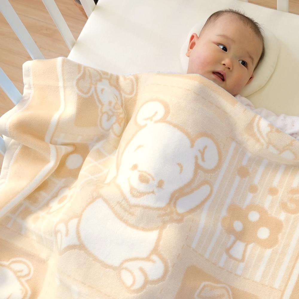 綿毛布 85×115cm プーさん&ピグレット 選べる3カラー 綿100%