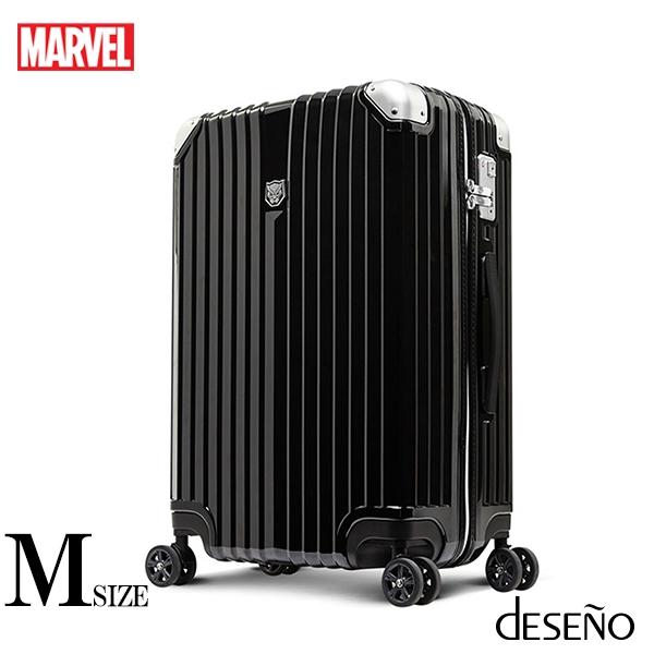 【deseno】マーベル ブラックパンサー スーツケース ジッパータイプ