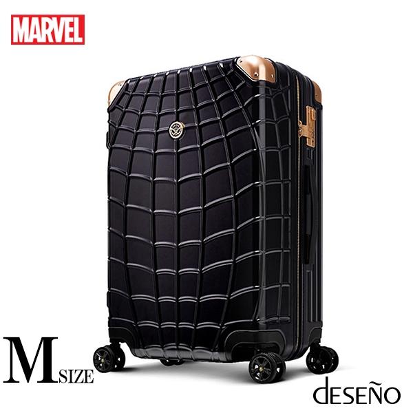 【deseno】マーベル スパイダーマン 黒 スーツケース ジッパータイプ