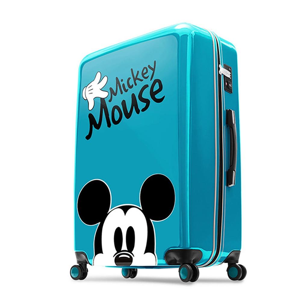 【deseno】ディズニー ミッキーマウス スーツケース レイクブルー ジッパータイプ