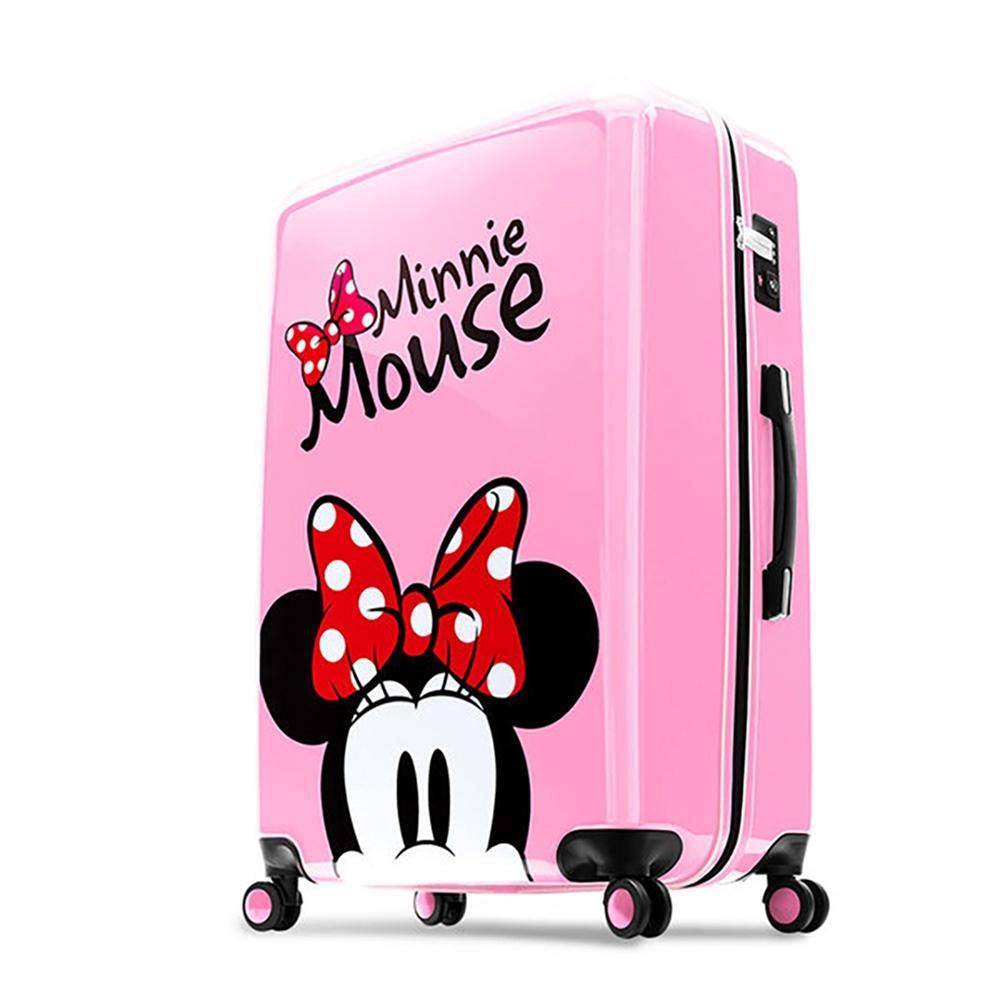 【deseno】ディズニー ミニーマウス スーツケース ピンク ジッパータイプ