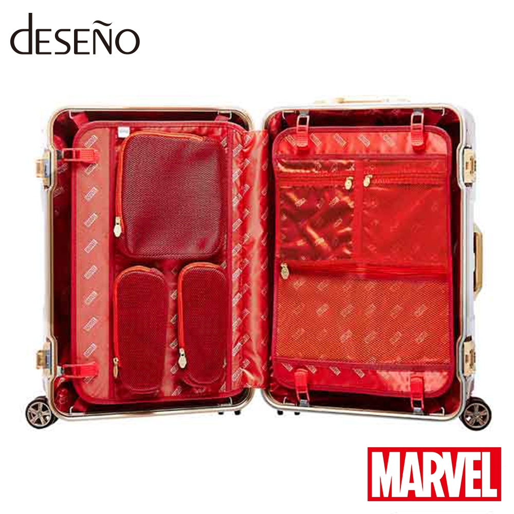 【deseno】マーベル アイアンマン ボディ型 スーツケース アルミフレームタイプ