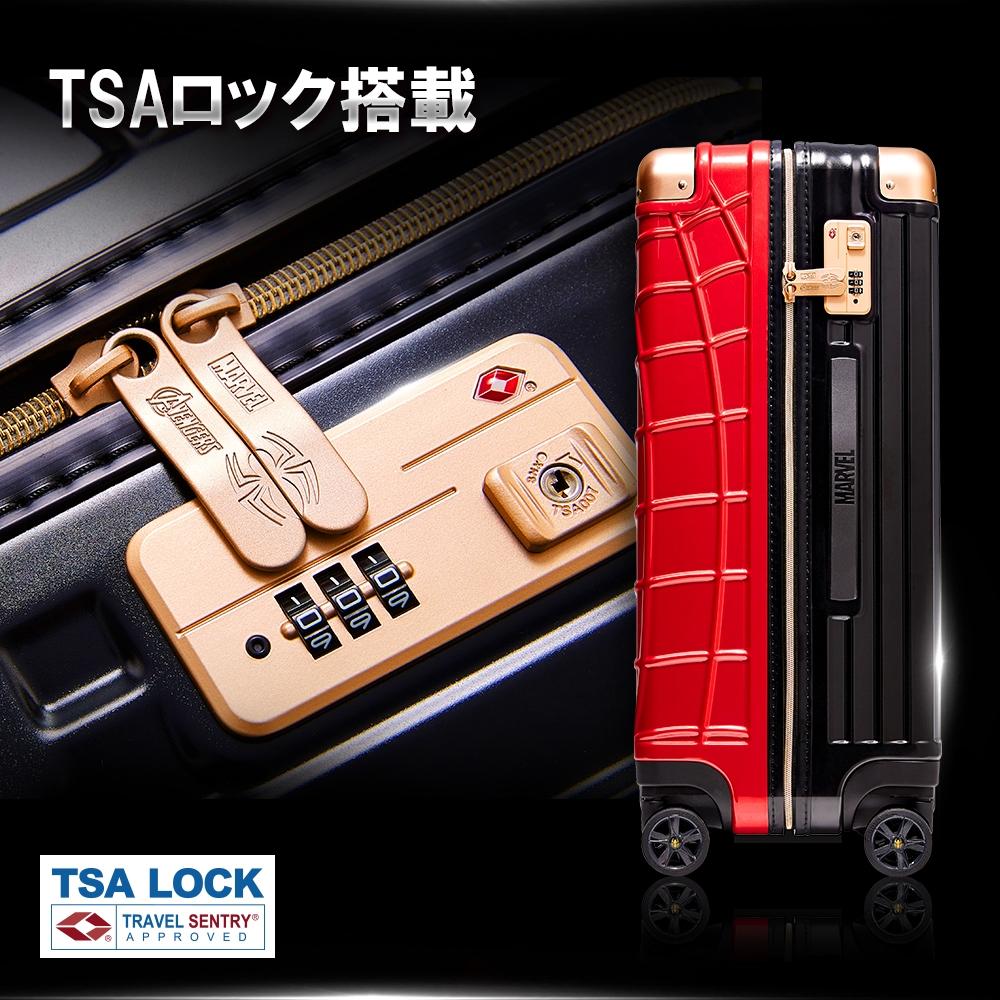 【deseno】マーベル スパイダーマン スーツケース 赤黒 ジッパータイプ