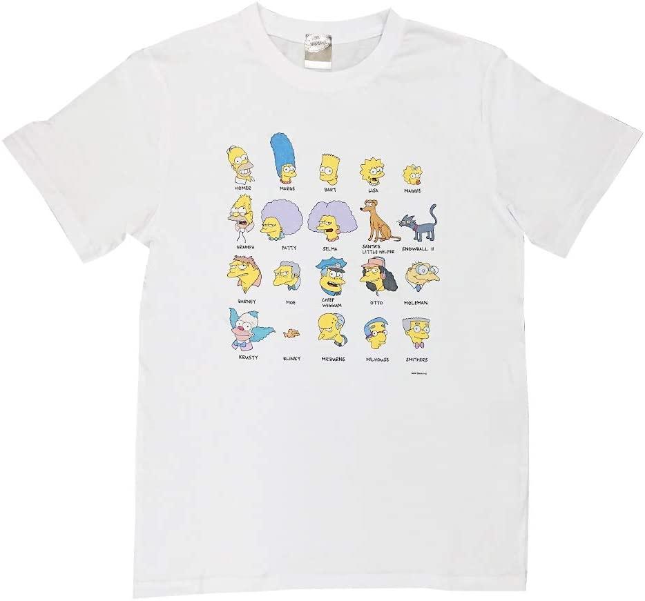 シンプソンズ Tシャツ 自己紹介 総柄