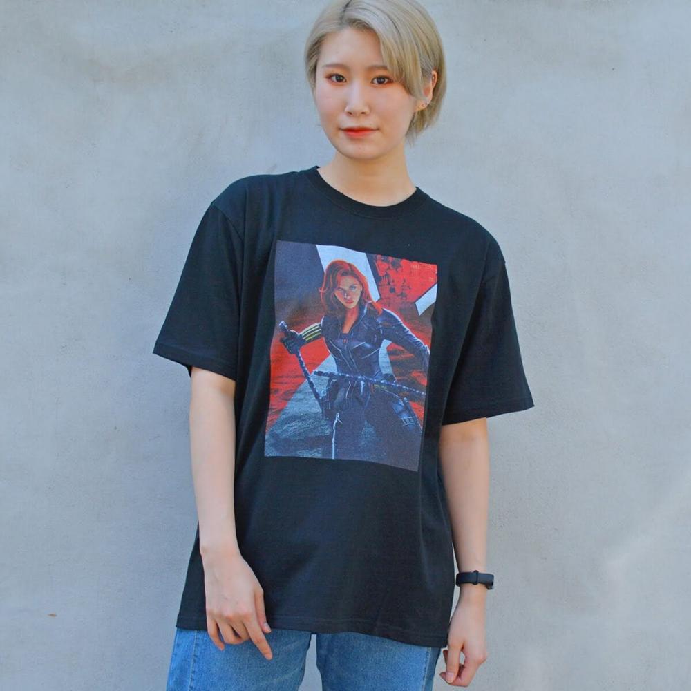 MARVEL/ブラック・ウィドウ/Tシャツ(PONEYCOMB TOKYO)