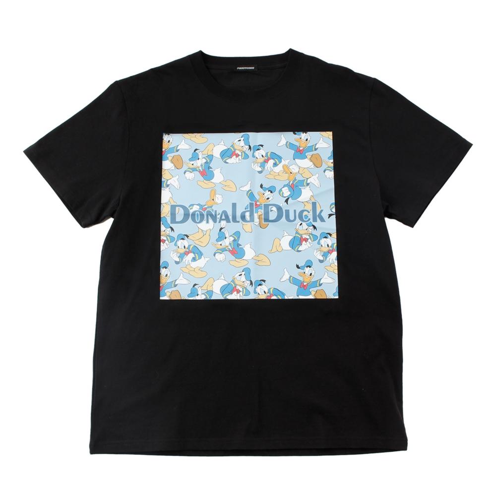 ドナルドダック/柄プリントTシャツ
