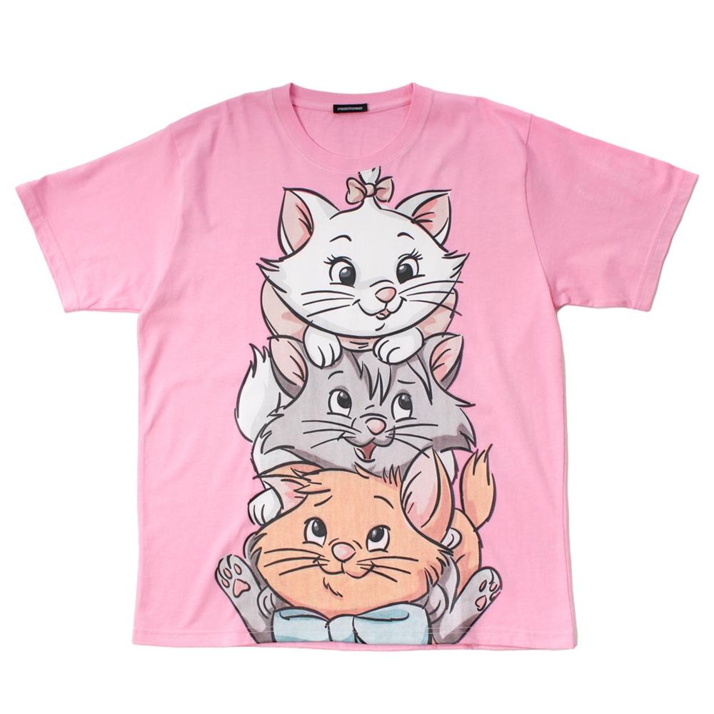 おしゃれキャット/マリー&ベルリオーズ&トゥルーズ/BIGプリントTシャツ