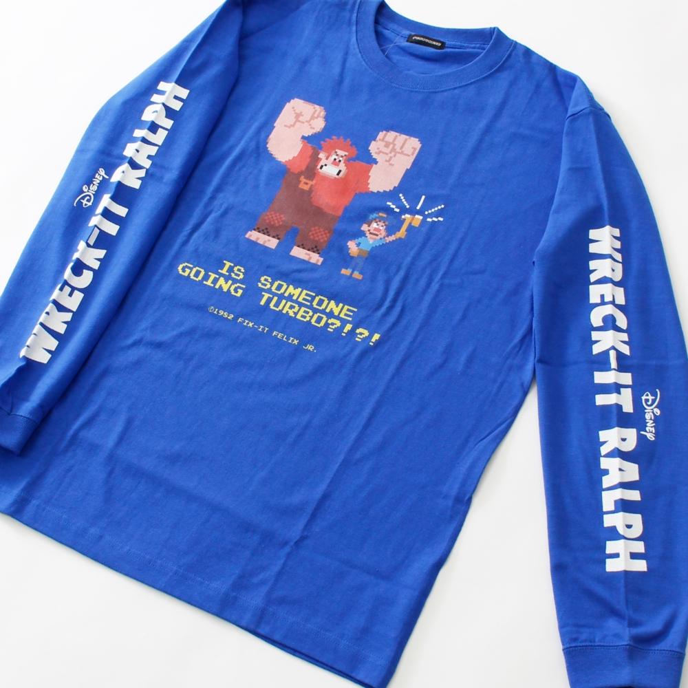 シュガー・ラッシュ/ラルフ&フェリックス/8bit ロングスリーブTシャツ
