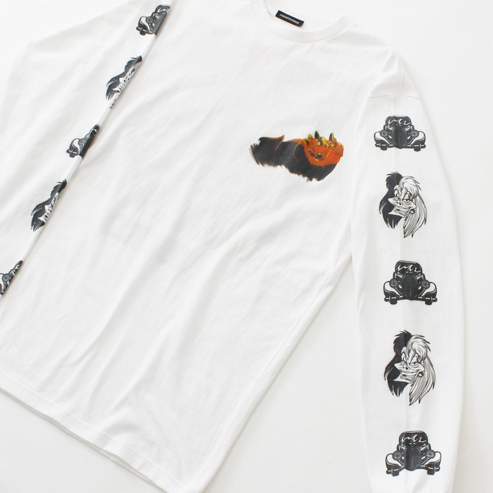 101匹わんちゃん/クルエラ/ロングスリーブTシャツ(PONEYCOMB TOKYO)