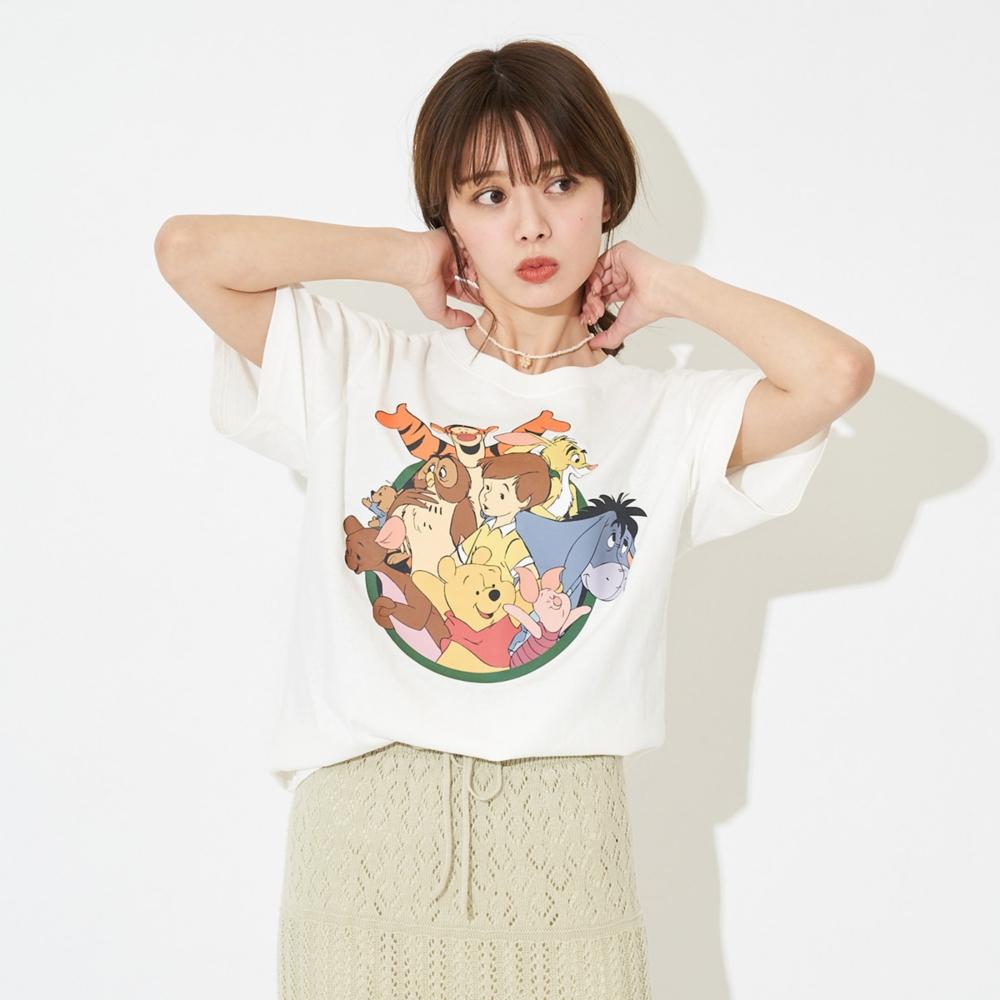 くまのプーさん/サークルデザインTシャツ(PONEYCOMB TOKYO)