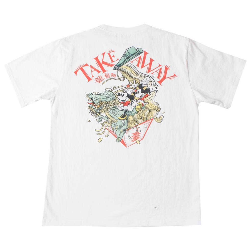 ミッキーマウス&ミニーマウス/チャイナ風グラフィックTシャツ A
