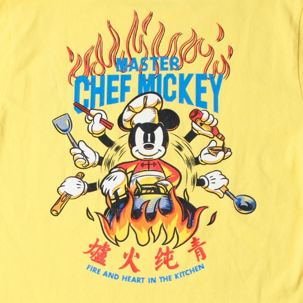 ミッキーマウス/チャイナ風グラフィックTシャツ B
