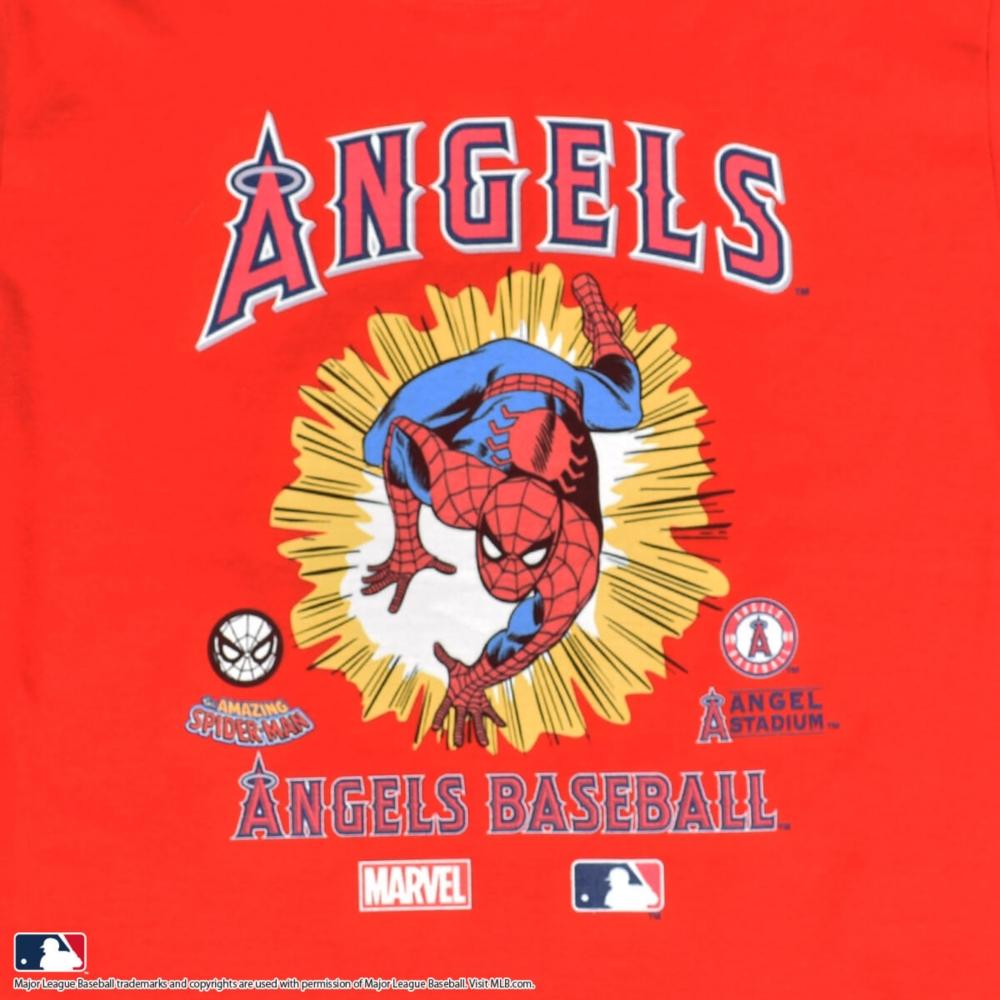 【MARVEL(マーベル)/スパイダーマン】【MLB/ロサンゼルス・エンゼルス】Tシャツ(PONEYCOMB PLATINUM)