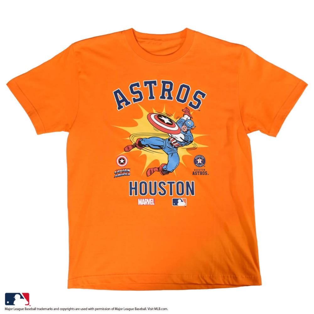 【MARVEL(マーベル)/キャプテン・アメリカ】【MLB/ヒューストン・アストロズ】Tシャツ(PONEYCOMB PLATINUM)