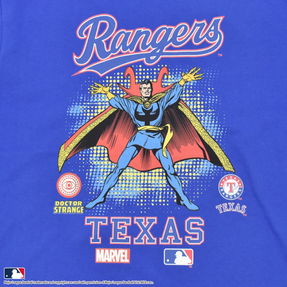 【MARVEL(マーベル)/ドクター・ストレンジ】【MLB/テキサス・レンジャーズ】Tシャツ(PONEYCOMB PLATINUM)