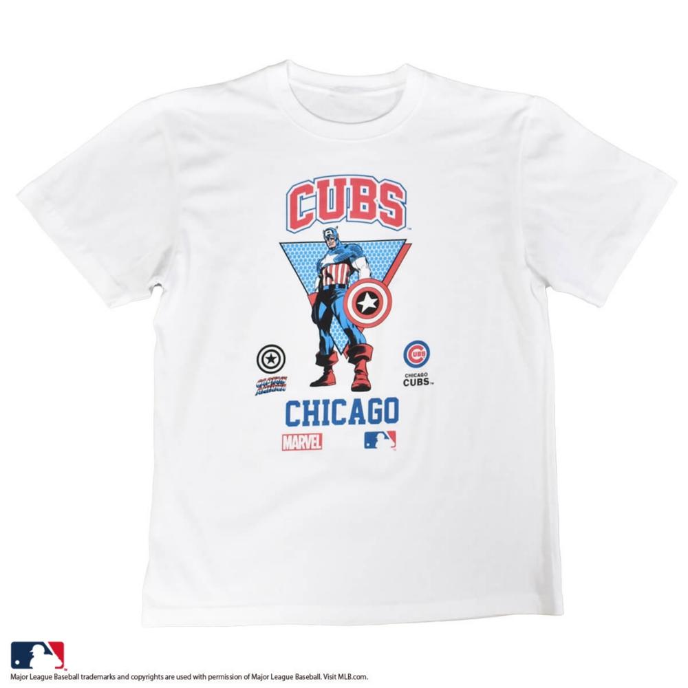 【MARVEL(マーベル)/キャプテン・アメリカ】【MLB/シカゴ・カブス】Tシャツ(PONEYCOMB PLATINUM)