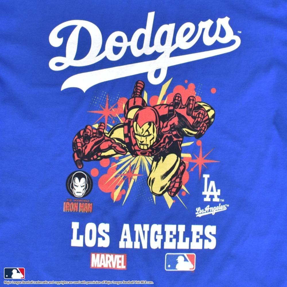 【MARVEL(マーベル)/アイアンマン】【MLB/ロサンゼルス・ドジャース】Tシャツ(PONEYCOMB PLATINUM)