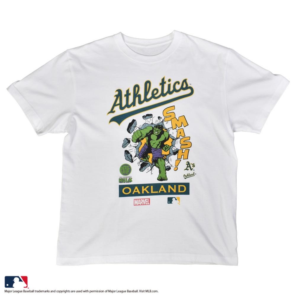【受注商品】【MARVEL/ハルク】【MLB/オークランド・アスレチックス】Tシャツ(PONEYCOMB PLATINUM)
