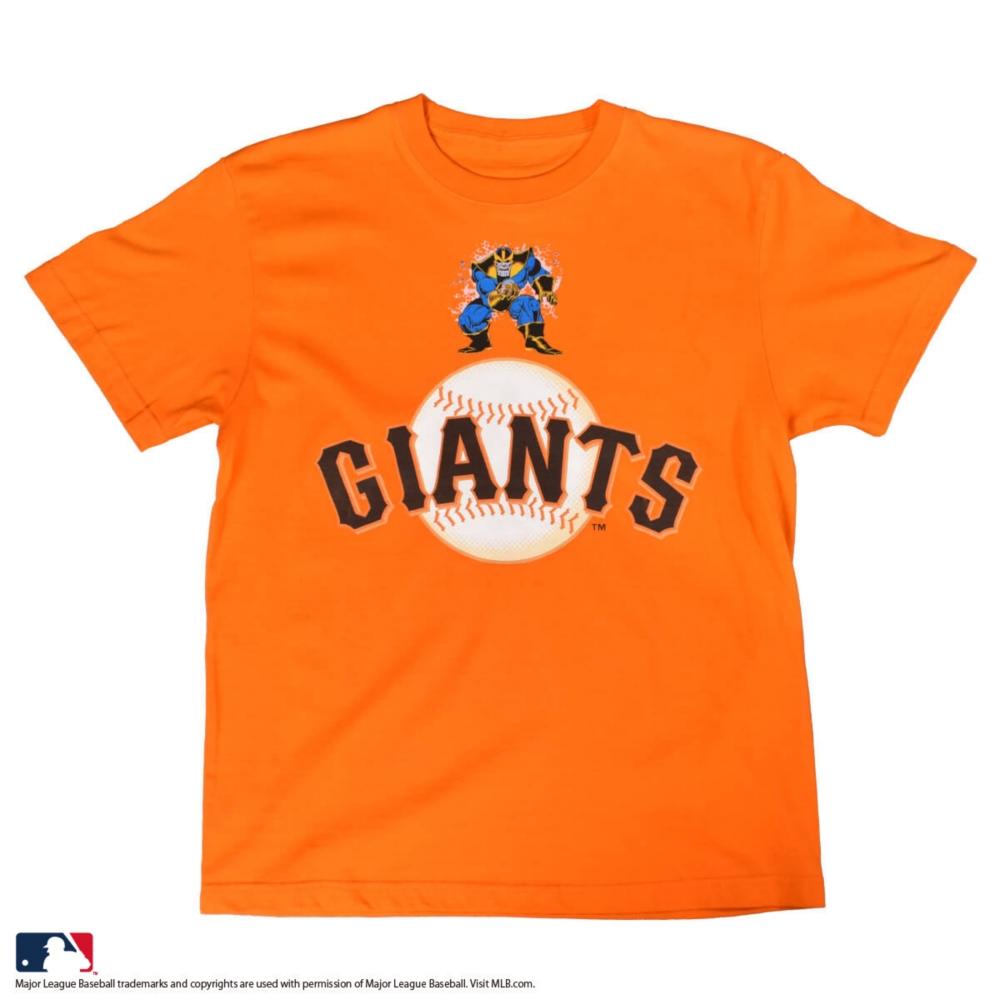 【MARVEL(マーベル)/サノス】【MLB/サンフランシスコ・ジャイアンツ】Tシャツ(PONEYCOMB PLATINUM)