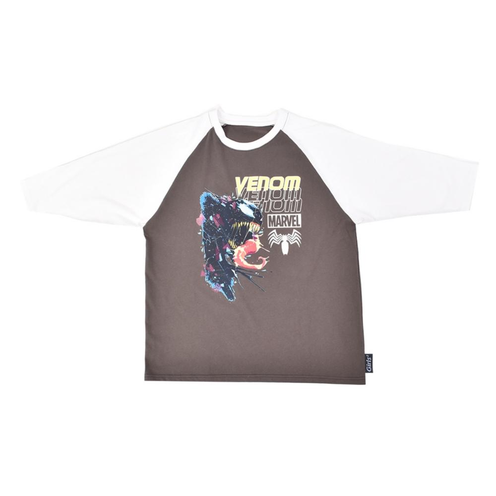 MARVEL/ヴェノム/ラグランスリーブTシャツ(PONEYCOMB TOKYO collection with Girls2)