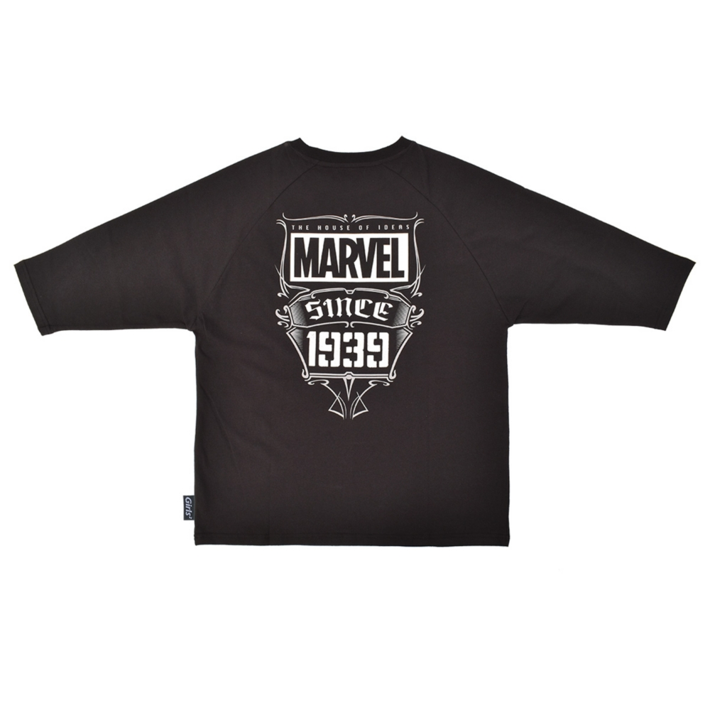 MARVEL/ロゴ/ラグランスリーブTシャツ(PONEYCOMB TOKYO collection with Girls2)