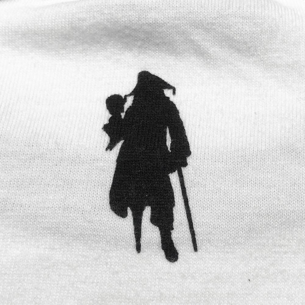【キャラチョイ】パイレーツ・オブ・カリビアン HECTOR BARBOSSA ラグランTシャツ(ホワイト)