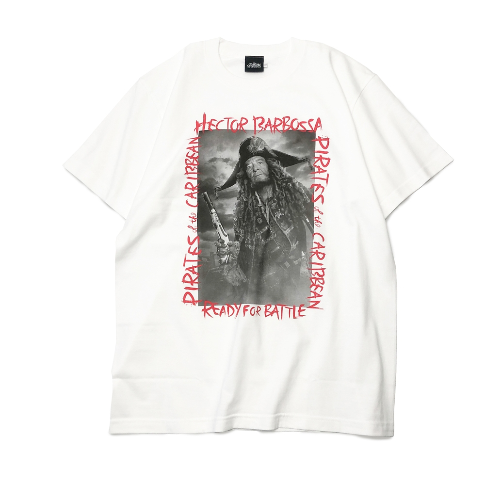 【キャラチョイ】パイレーツ・オブ・カリビアン HECTOR BARBOSSA PHOTO Tシャツ(ホワイト)