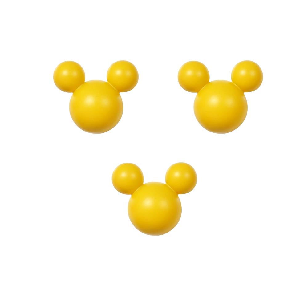 家具用 ミッキーマウス取っ手 ツマミ 3個入り