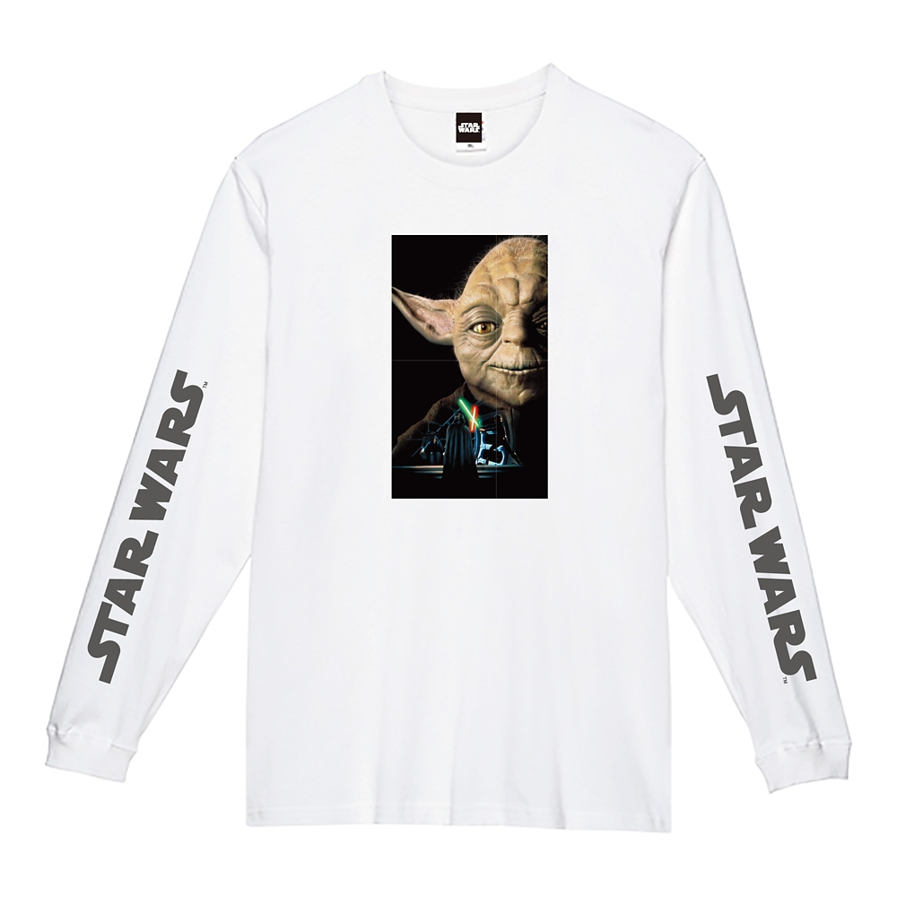 蓄光ロゴロングスリーブTシャツ ヨーダ
