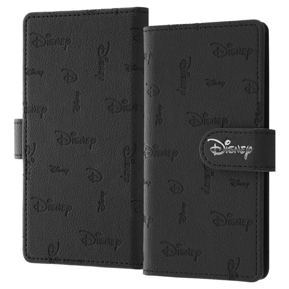 【9月下旬よりお届け】汎用/『Disney LOGO COLLECTION』/汎用手帳型ケース FLEX ワイドディスプレイMサイズ マグネット/『ディズニーロゴ/総柄』