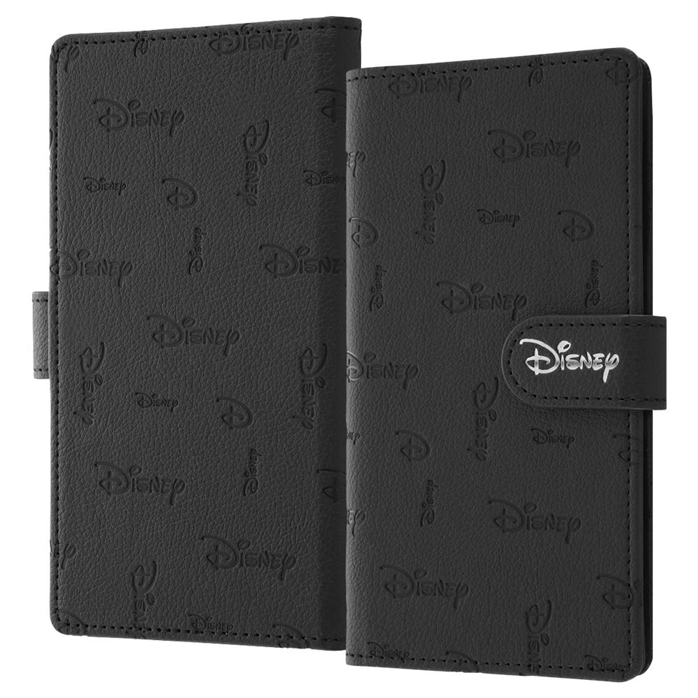 【受注/9月下旬頃よりお届け】arrows Be4 Plus /『Disney LOGO COLLECTION』/手帳型 FLEX CASE KAKU M/『ディズニーロゴ/総柄』【受注生産】