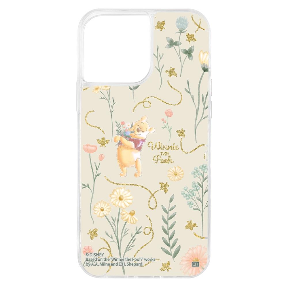 『ディズニーキャラクター』/ラメ グリッターケース/フラワー【受注生産】