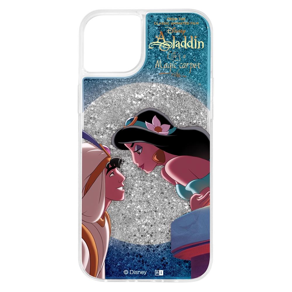 『ディズニーキャラクター』/ラメ グリッターケース/アラジンとジャスミン【受注生産】