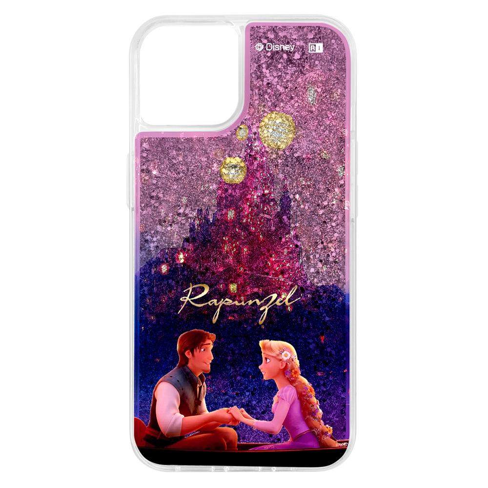 『ディズニーキャラクター』/ラメ グリッターケース/お城【受注生産】