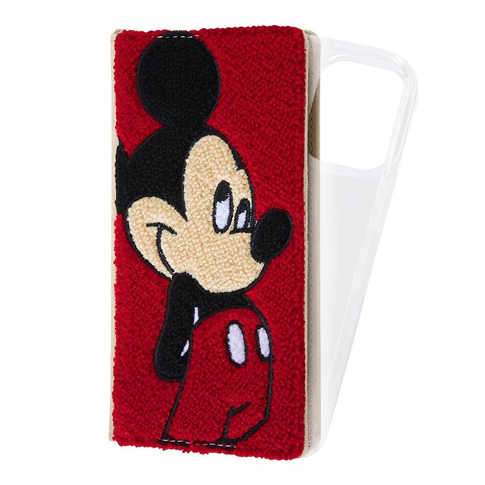 『ディズニーキャラクター』/手帳型 FLEX CASE サガラ刺繍/ミッキーマウス