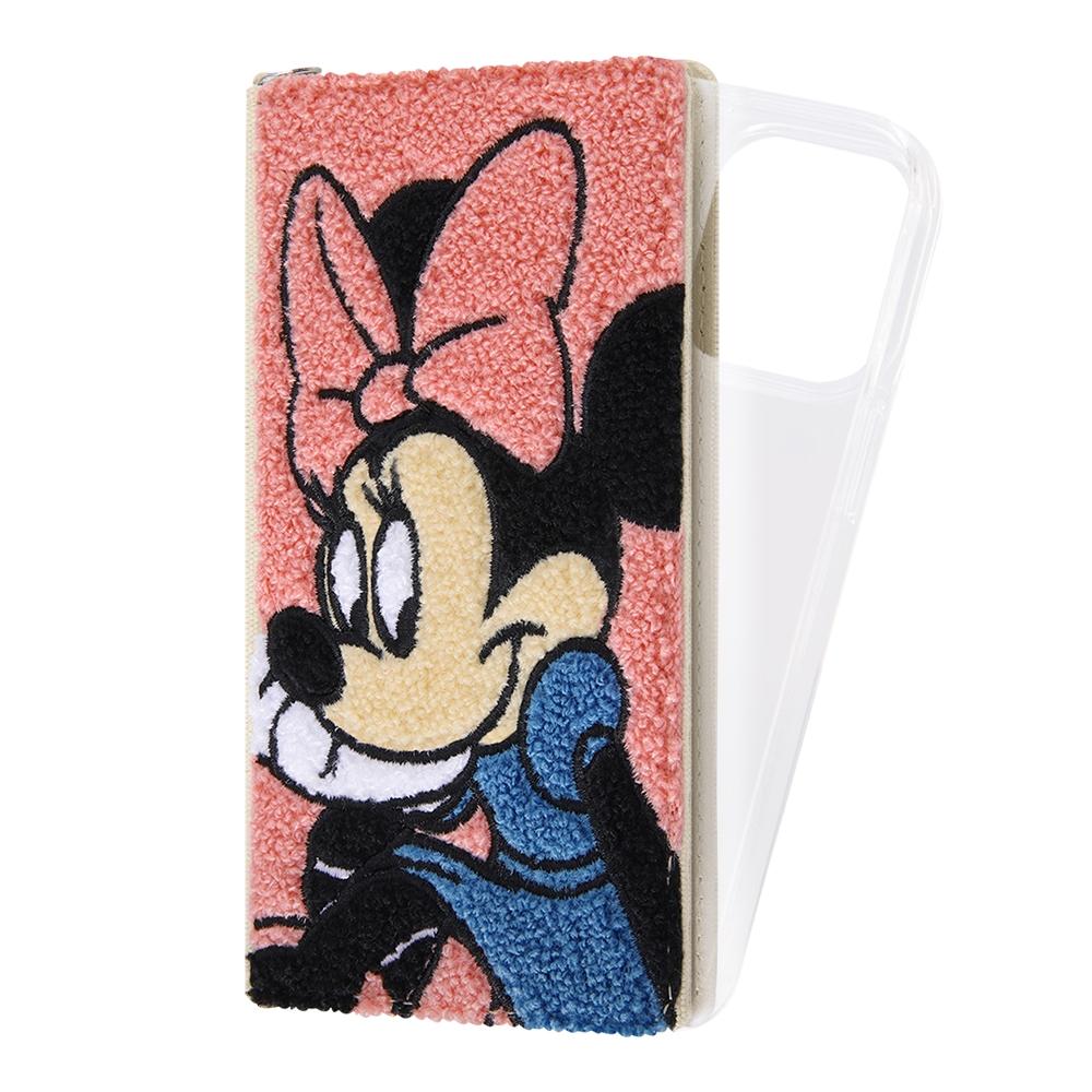 『ディズニーキャラクター』/手帳型 FLEX CASE サガラ刺繍/ミニーマウス