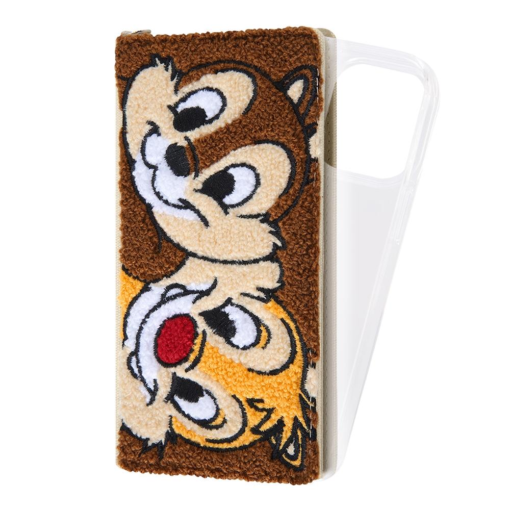 『ディズニーキャラクター』/手帳型 FLEX CASE サガラ刺繍/チップ&デール