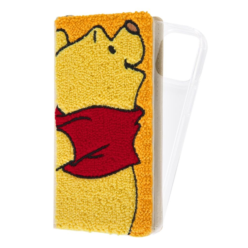『ディズニーキャラクター』/手帳型 FLEX CASE サガラ刺繍/プー