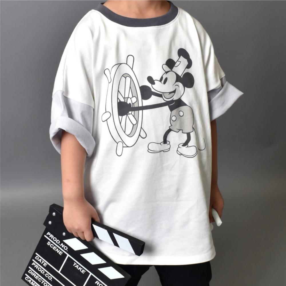 蒸気船ウィリー/ミッキーマウス/Tシャツ(petit copain BY PONEYCOMB)