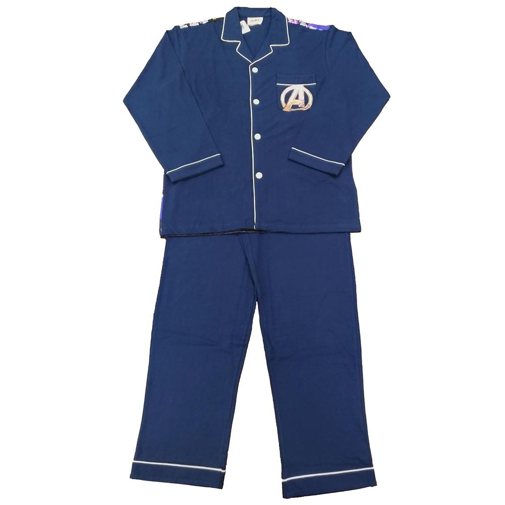MARVEL/エンドゲームポスター柄 長袖全開シャツパジャマ