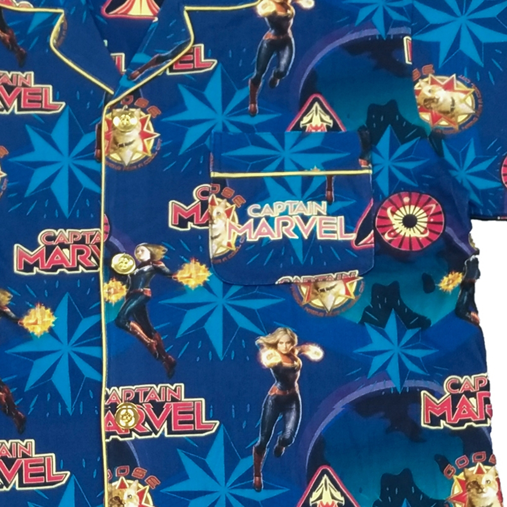 CAPTAIN MARVEL プリント半袖シャツパジャマ