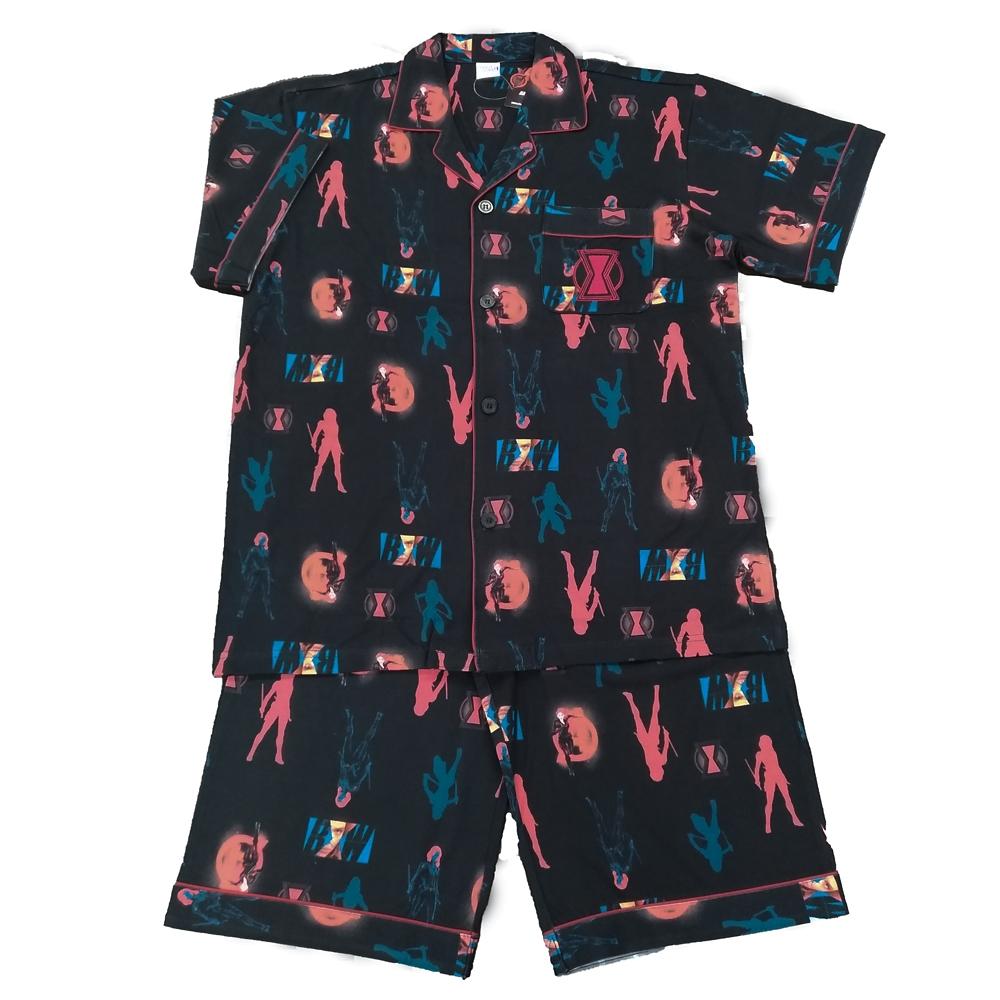 BLACK WIDOW プリント半袖シャツパジャマ