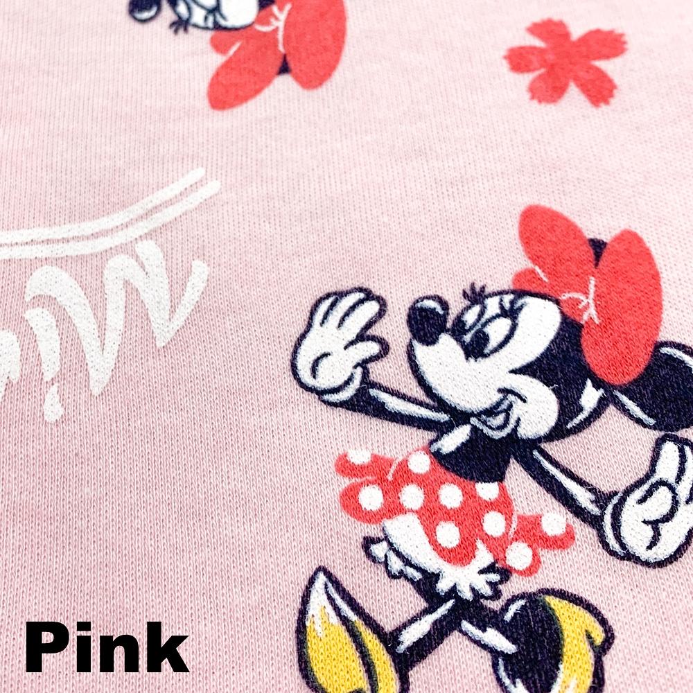 ミニー キッズ用総柄スムースニットシャツパジャマ