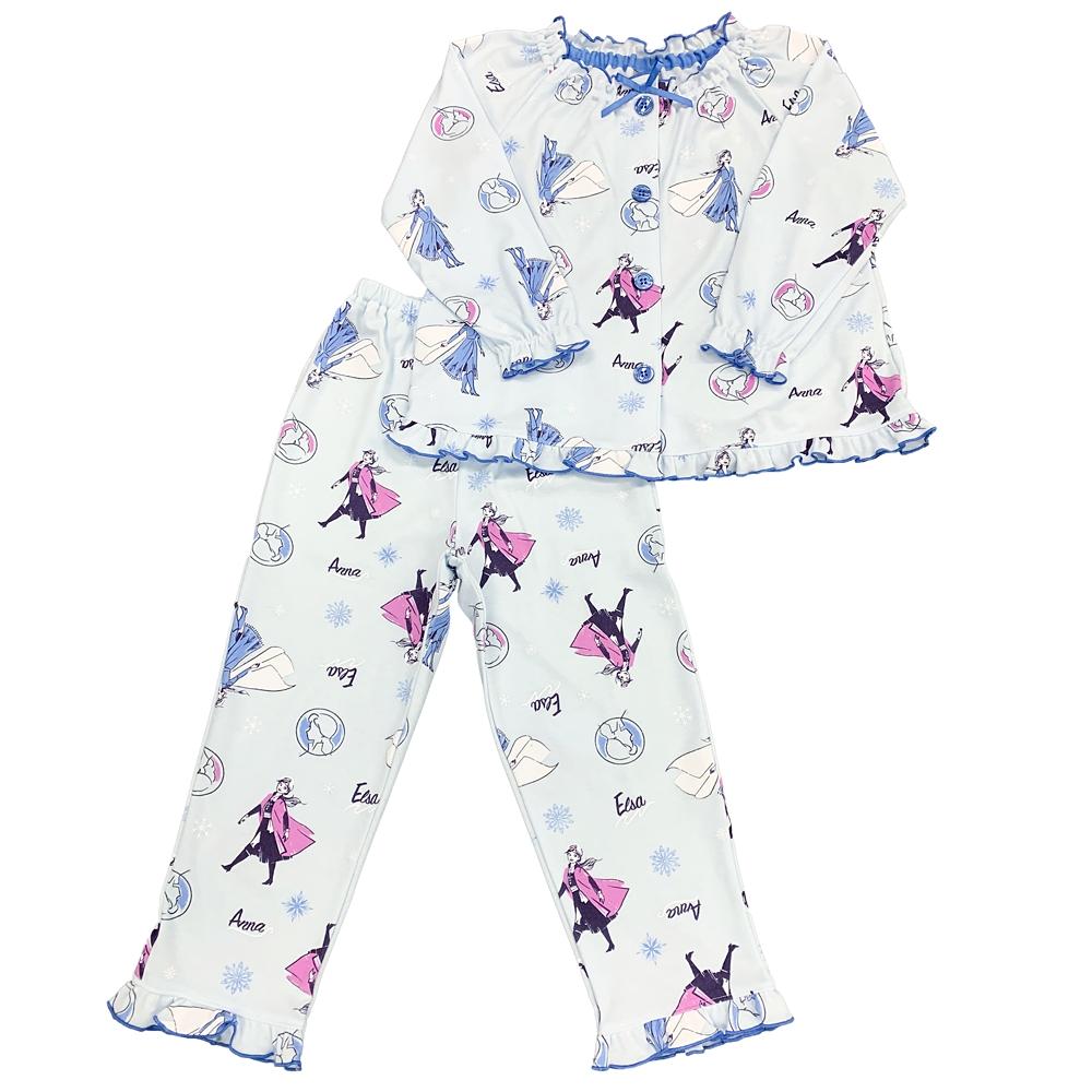 アナと雪の女王2 キッズ用総柄スムースニットスモックタイプパジャマ