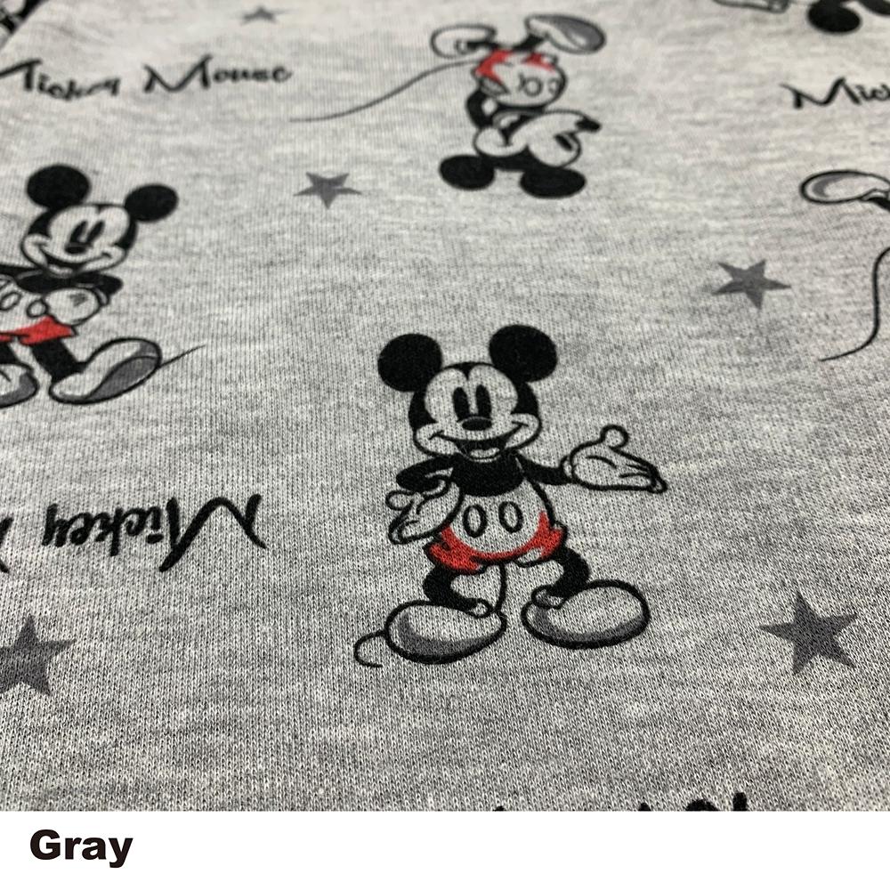 ミッキー キッズ用総柄スムースニットシャツパジャマ