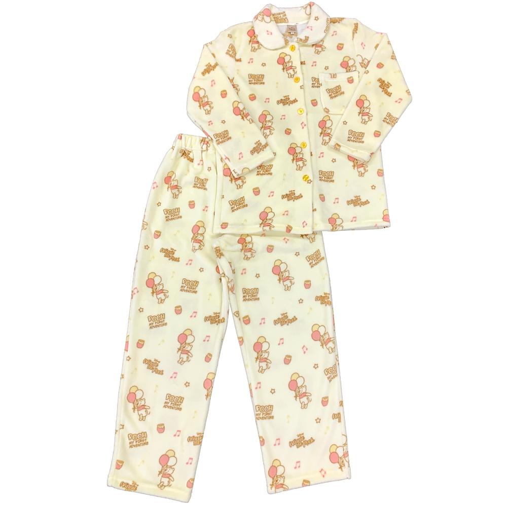プー フランネルフリース長袖シャツパジャマ