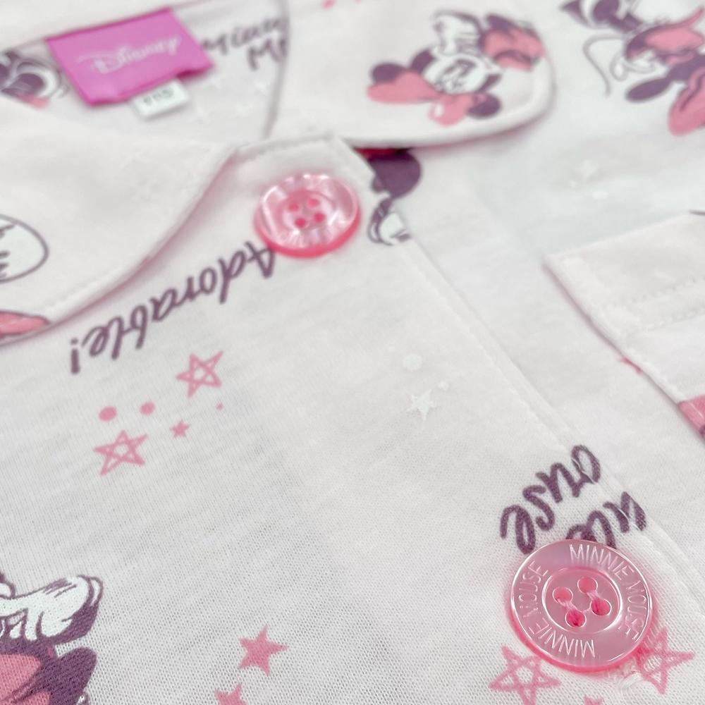 ミニー キッズ用天竺半袖シャツパジャマ