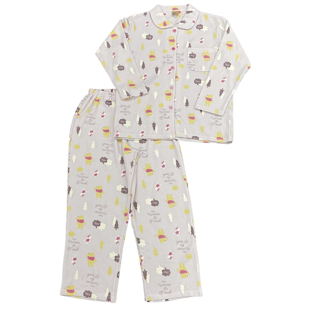 プー キルト総柄シャツパジャマ