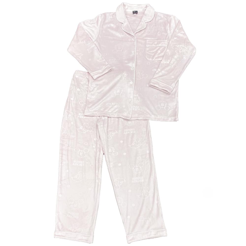 ミッキー エンボスベロアシャツパジャマ
