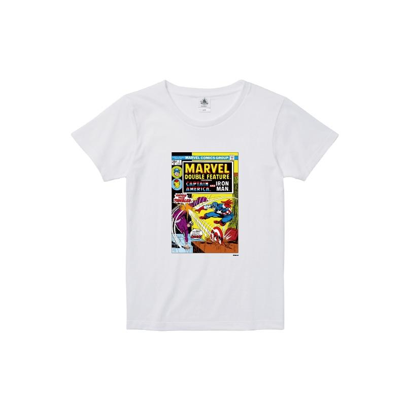 【D-Made】Tシャツ レディース  MARVEL コミック キャプテン・アメリカ アイアンマン